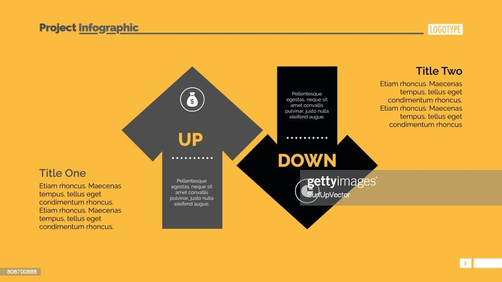 Up And Down Arrow Diagram Slide Template Vector Art Getty Images