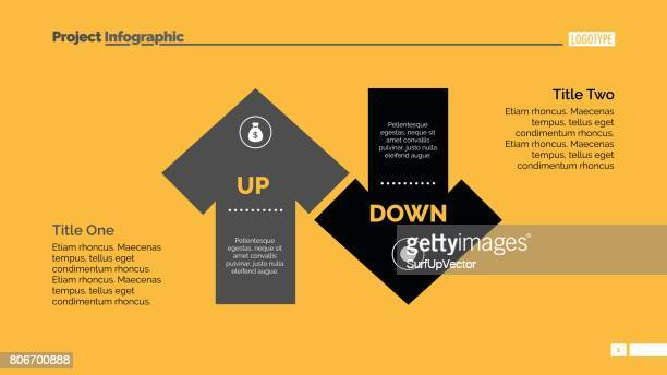上下の矢印図スライド テンプレート