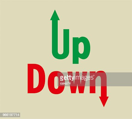Up And Down Arrow Symbol Vector Art Getty Images