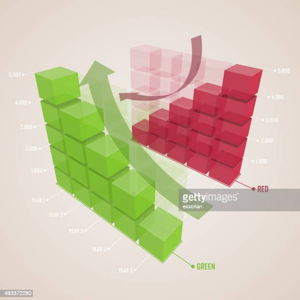 up and down bar chart - fiscal year stock illustrations