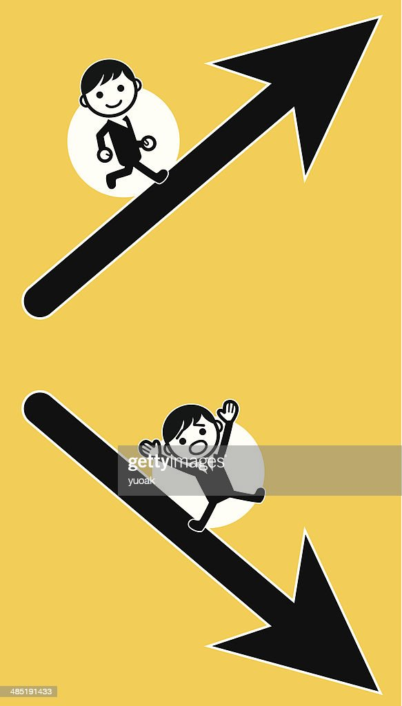 Up and down : stock illustration