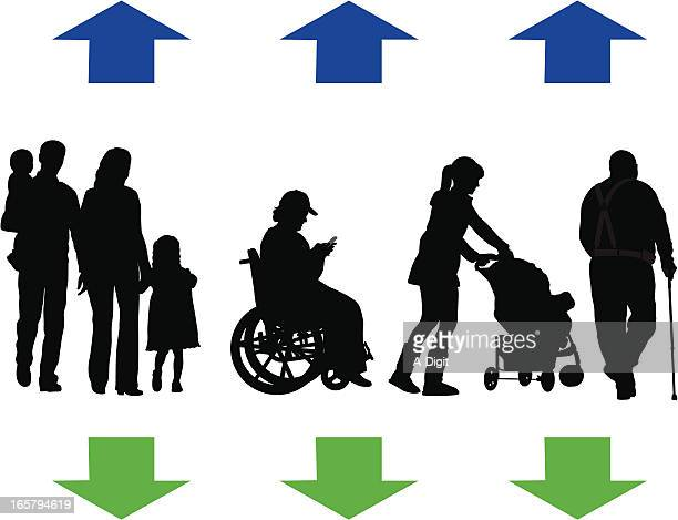 Up And Down Vector Silhouette