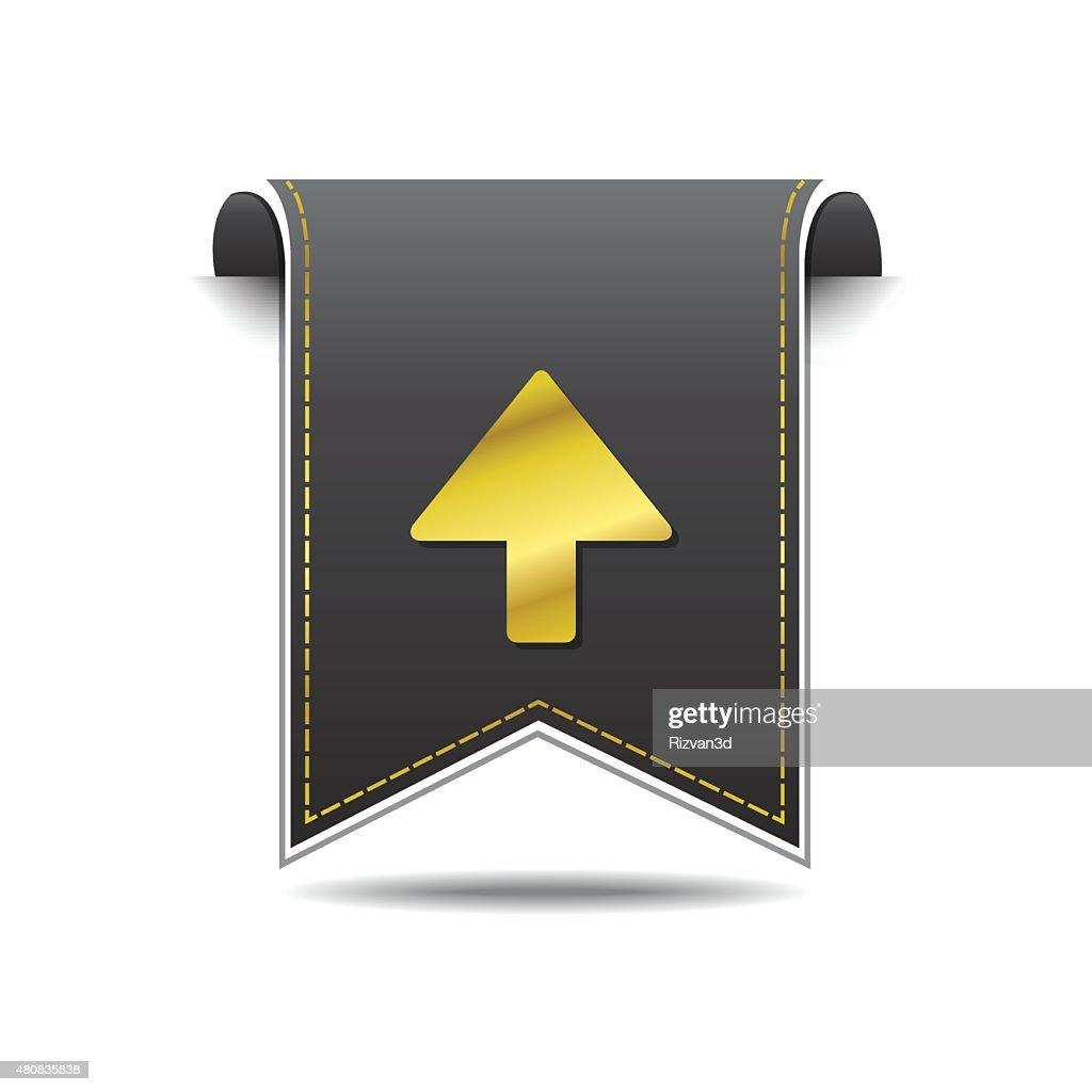 Up  Arrow golden Vector Icon Design
