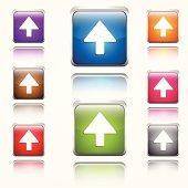 Up  Arrow Round Corner Vector Web Icon Button Set