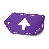 Up  Arrow Violet Vector Icon Design