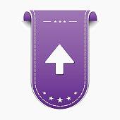 Up  Arrow Violet Vector Icon Design