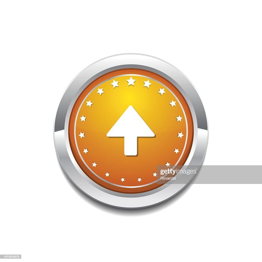 Up  Arrow Yellow Vector Icon Button