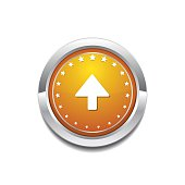 Up  Arrow Yellow Vector Icon Button