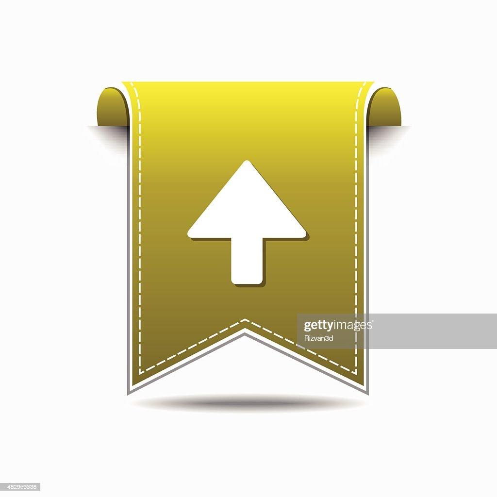 Up  Arrow Yellow Vector Icon Design