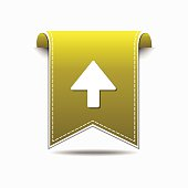 Up  Arrow Yellow Vector Icon Design