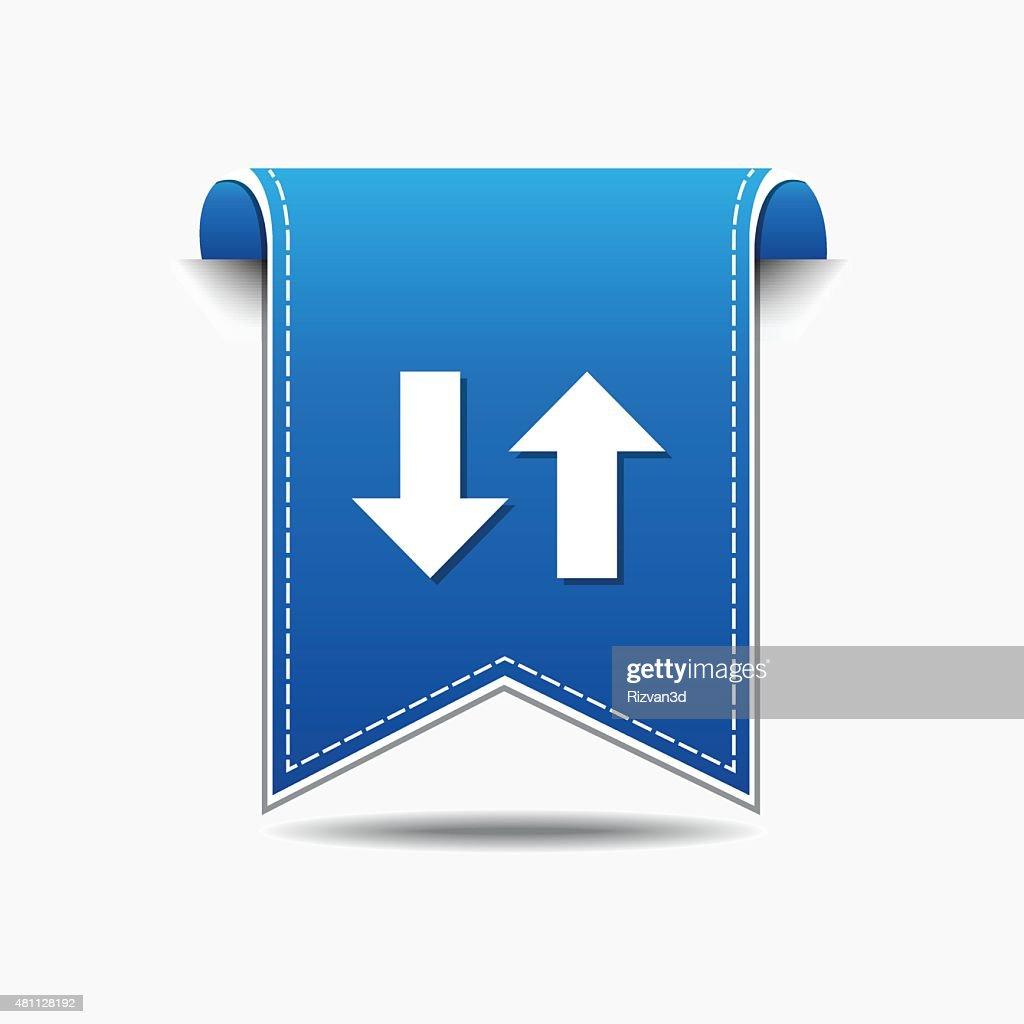 Up Down Arrow Blue Vector Icon Design