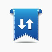 Up Down Arrow Blue Vector Icon Design