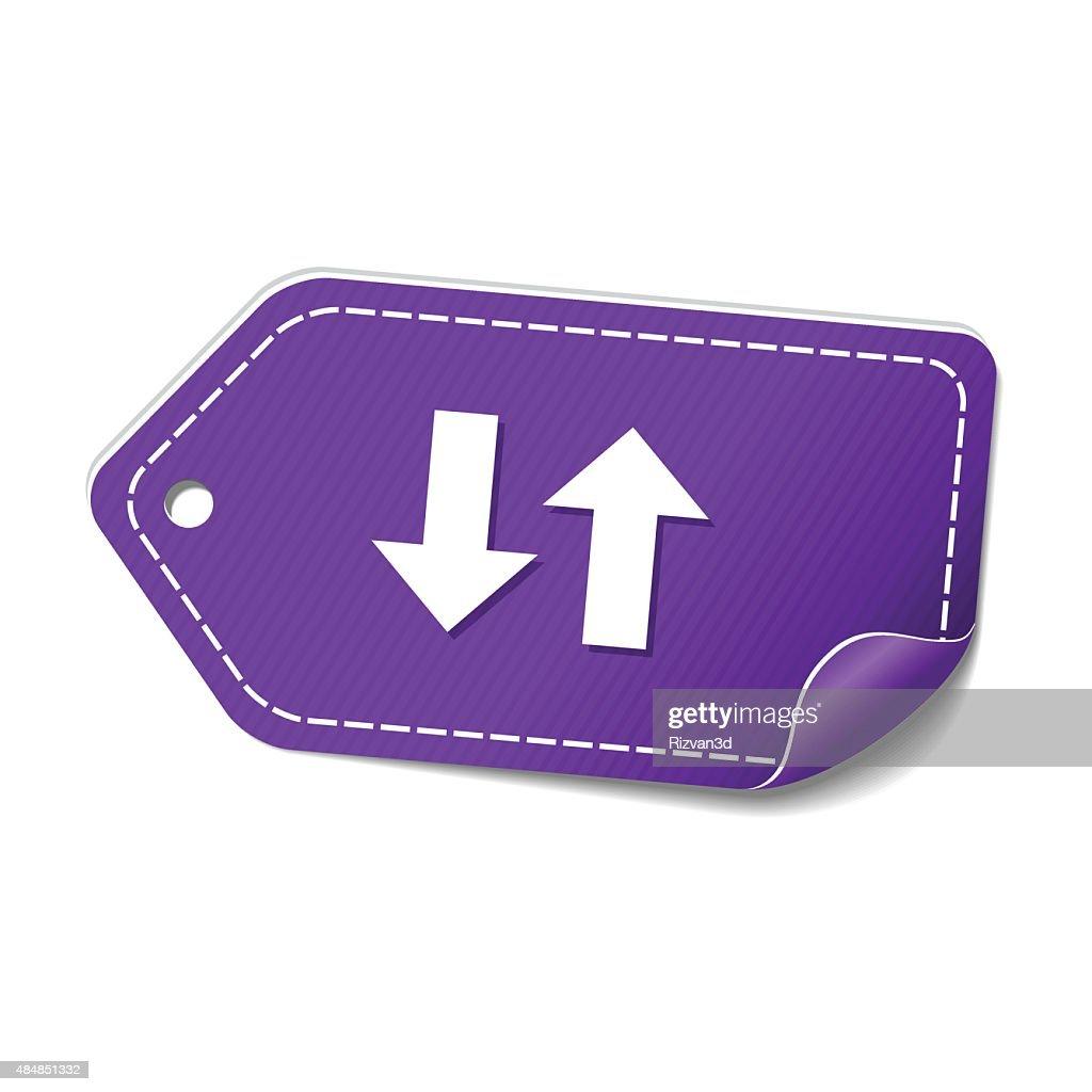 Up Down Arrow Violet Vector Icon Design
