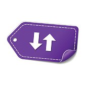 Up Down Arrow Violet Vector Icon Design