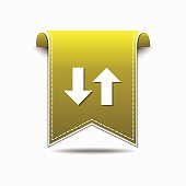Up Down Arrow Yellow Vector Icon Design