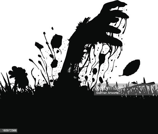up from the grave - zombie stock illustrations, clip art, cartoons, & icons