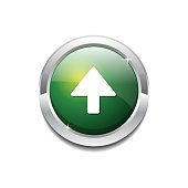 Up Key Circular Vector GreenWeb Icon Button