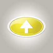 Up Key Circular Vector Yellow Web Icon Button
