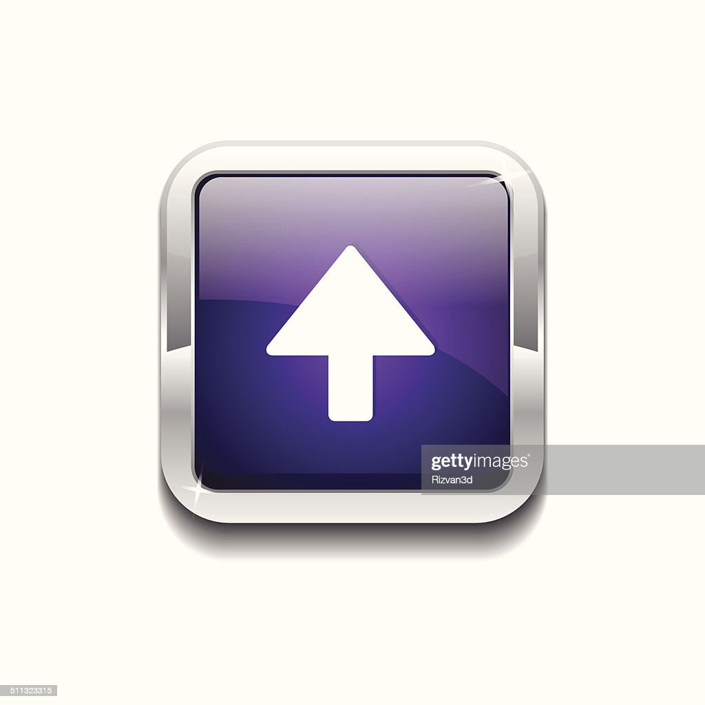 Up Key Rounded Corner Vector Purple Web Icon Button