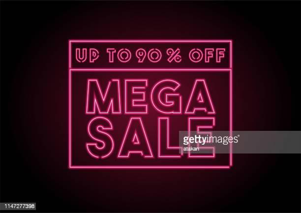 最大 90% オフメガの販売赤ネオンライトブラックウォール - 数字の90点のイラスト素材/クリップアート素材/マンガ素材/アイコン素材