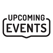 Upcoming events. Flat vector illustration on white background.