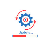 update application progress icon