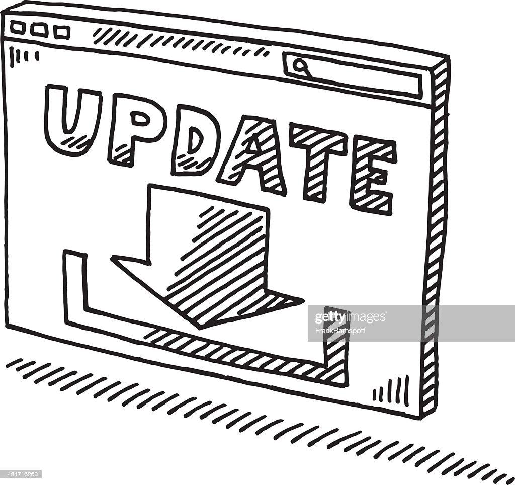 ウィンドウの図記号の更新をダウンロード : ストックイラストレーション