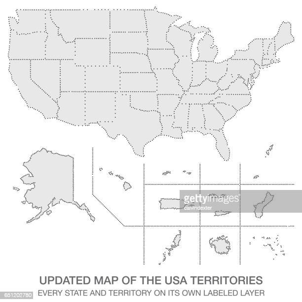 Updated map of the USA Territories
