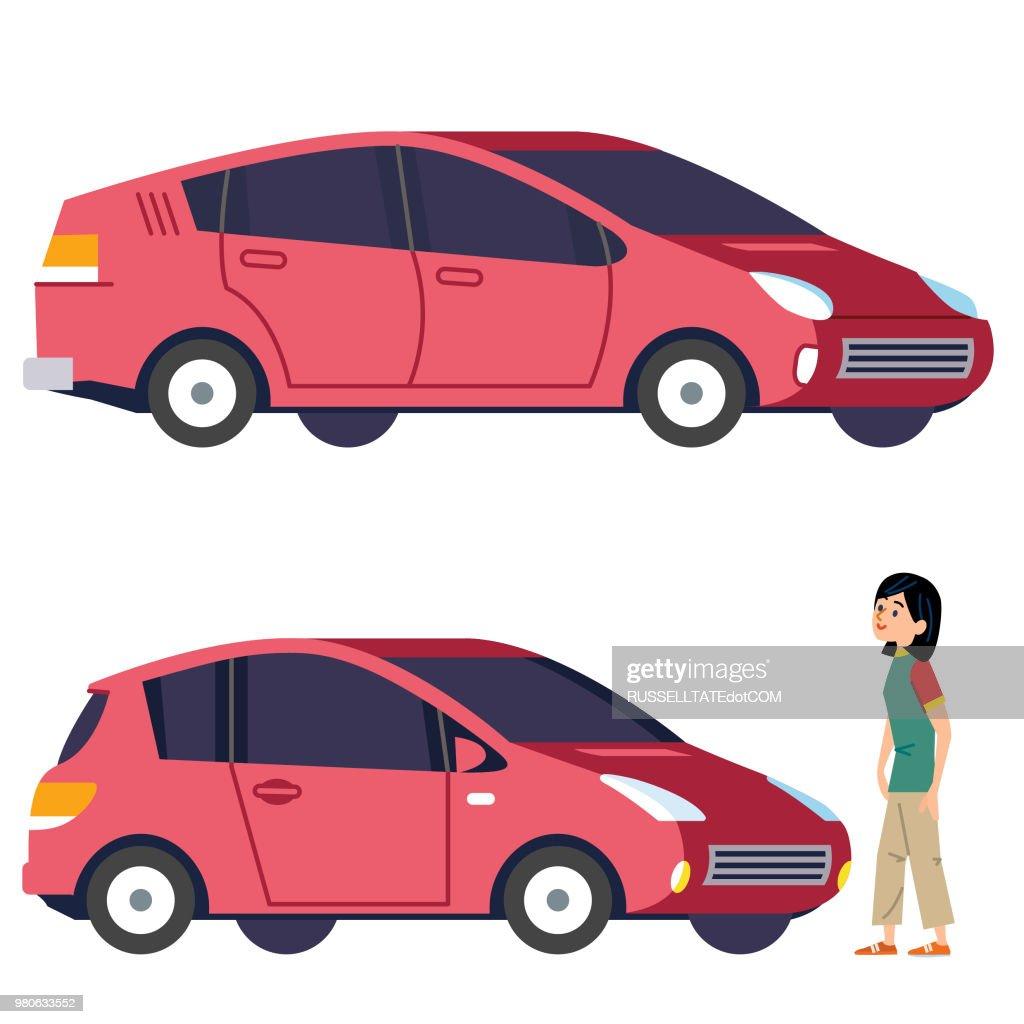 Actualizar a un coche más grande : Ilustración de stock
