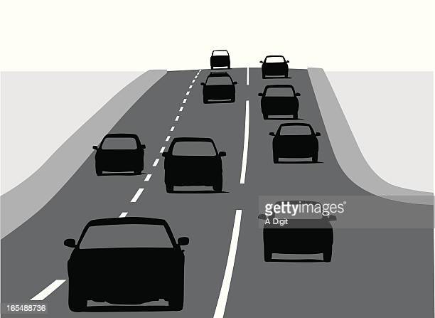 uphill vector silhouette - dividing line road marking stock illustrations, clip art, cartoons, & icons