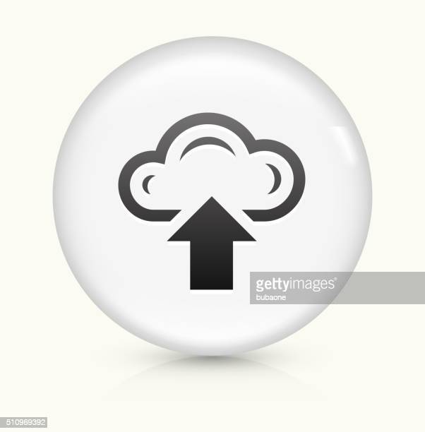 Upload Cloud icon on white round vector button