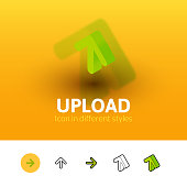 Upload icon in different style