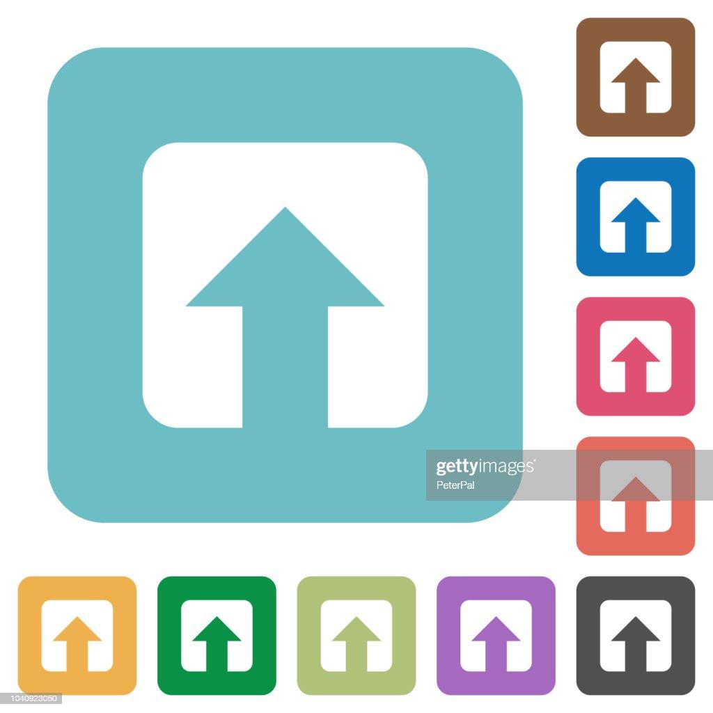 Upload rounded square flat icons