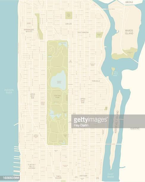 マンハッタンのマップ - アッパーイーストサイドマンハッタン点のイラスト素材/クリップアート素材/マンガ素材/アイコン素材