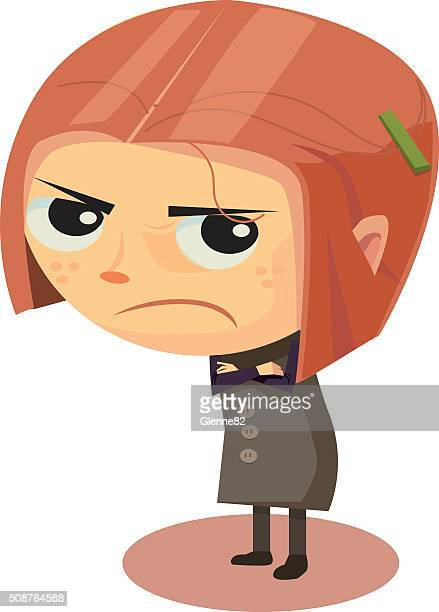 Bouleversé et en colère fille