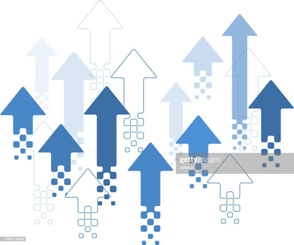 diseño de flechas hacia arriba : Ilustración de stock