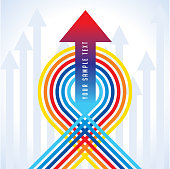 Upward colorful arrow for business