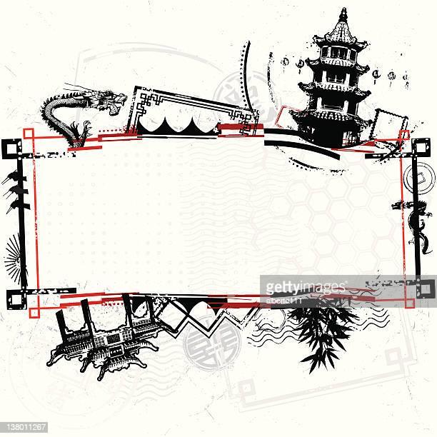 urban asian bongo madness - pagoda stock illustrations, clip art, cartoons, & icons
