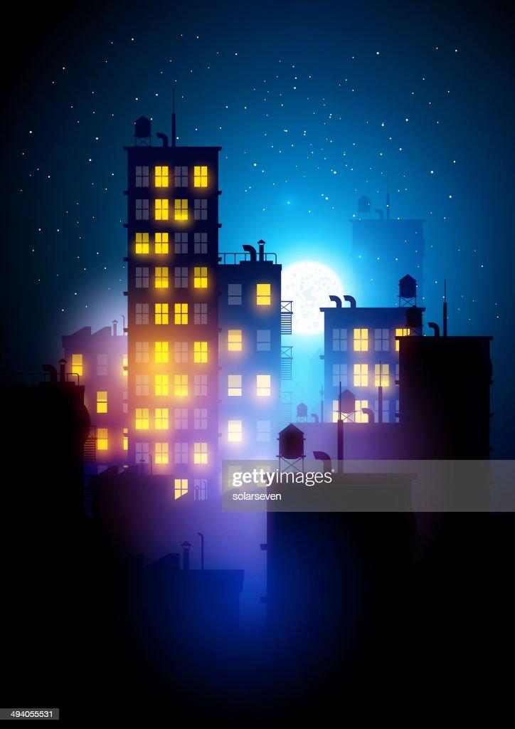 Urban City At Night