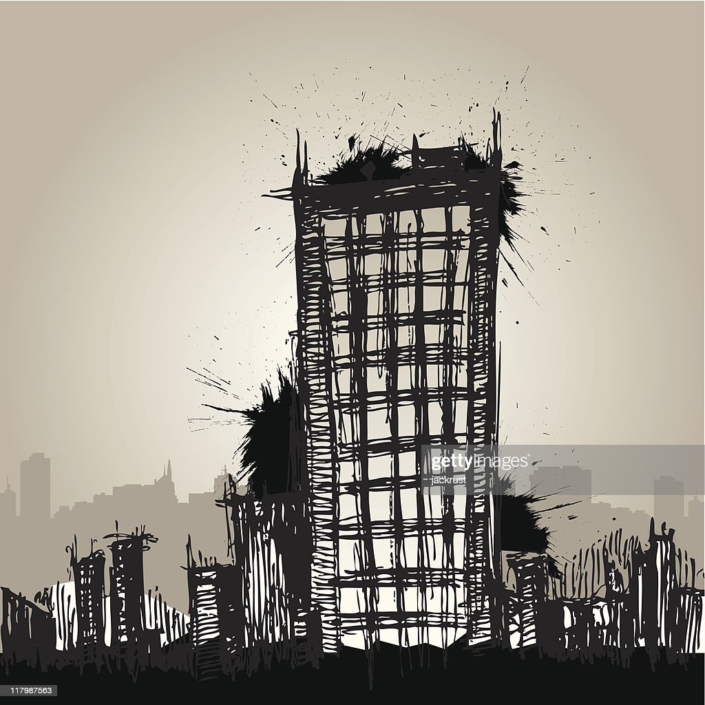 Urban City Drawn (vector)