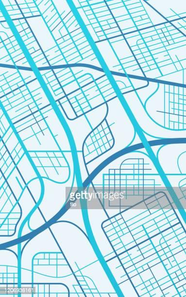 都市地図通りと道路の概要 - 境界線点のイラスト素材/クリップアート素材/マンガ素材/アイコン素材