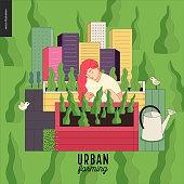 Urban farming and gardening