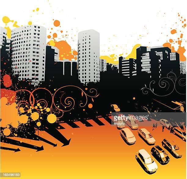 urban heat - heatwave stock illustrations