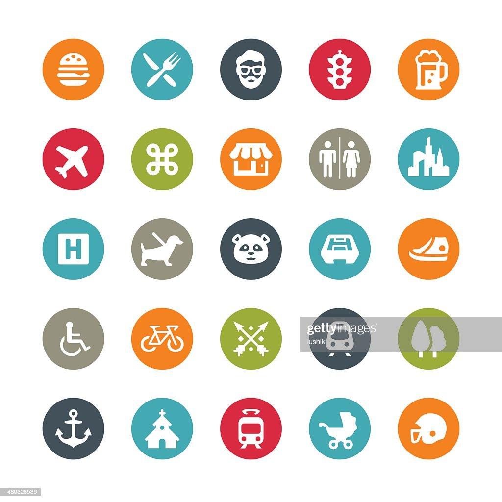 Urban icons / Ringico series : stock illustration