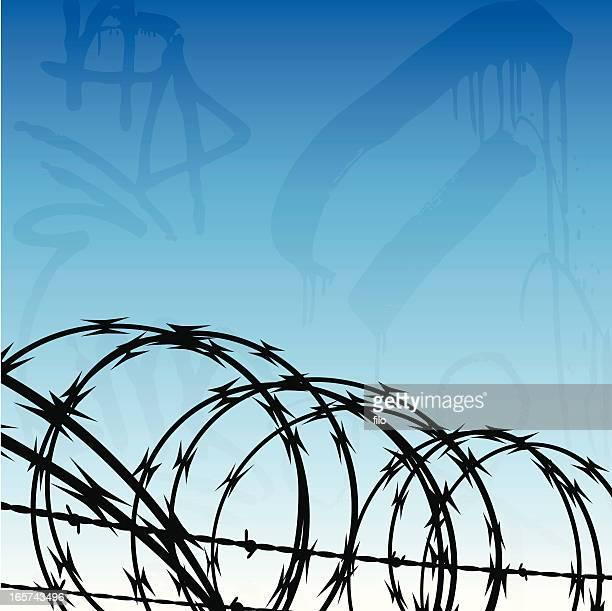 Cárcel fondo urbano