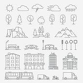 Urban line icons