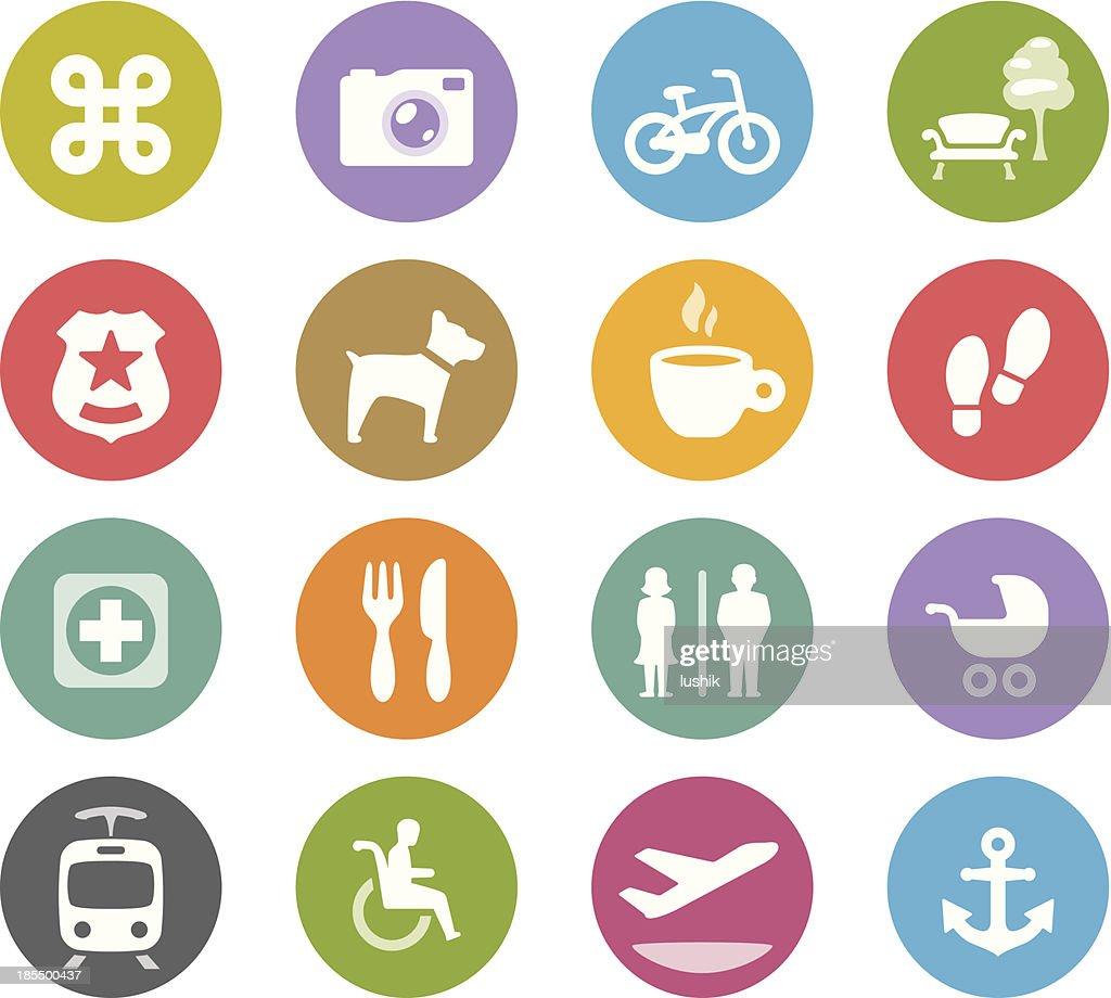 Urban navigation / Wheelico icons