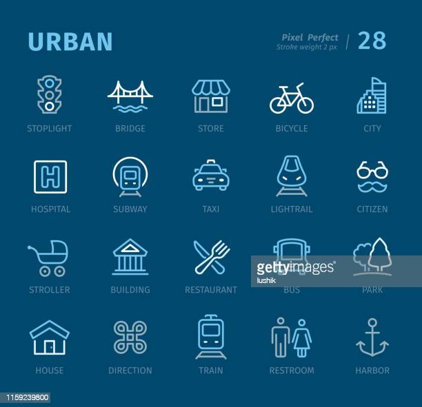 Urban - Outline icons with captions