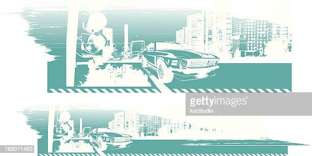urban ride - street racing stock illustrations, clip art, cartoons, & icons
