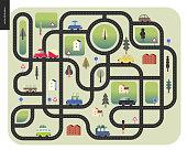 Urban road map